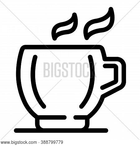 Tea Mug Icon. Outline Tea Mug Vector Icon For Web Design Isolated On White Background