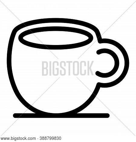 Ceramic Cup Icon. Outline Ceramic Cup Vector Icon For Web Design Isolated On White Background