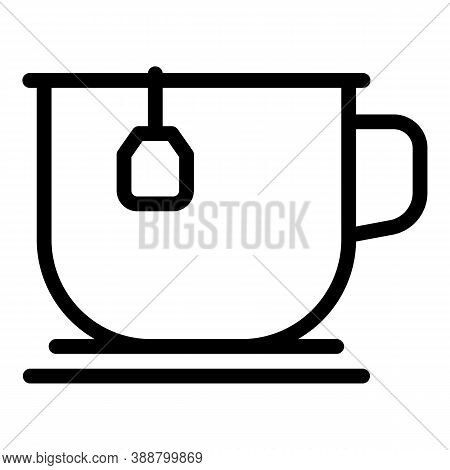 Steel Tea Mug Icon. Outline Steel Tea Mug Vector Icon For Web Design Isolated On White Background