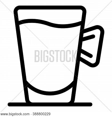 Warm Mug Icon. Outline Warm Mug Vector Icon For Web Design Isolated On White Background