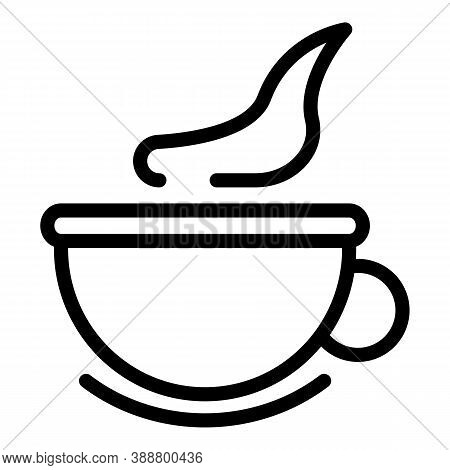 Restaurant Mug Icon. Outline Restaurant Mug Vector Icon For Web Design Isolated On White Background