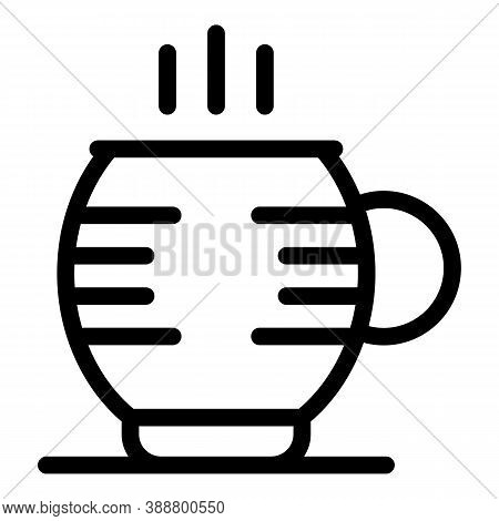 Chocolate Mug Icon. Outline Chocolate Mug Vector Icon For Web Design Isolated On White Background