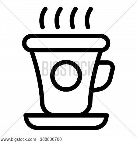 Small Mug Icon. Outline Small Mug Vector Icon For Web Design Isolated On White Background