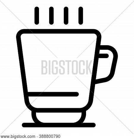 Morning Tea Mug Icon. Outline Morning Tea Mug Vector Icon For Web Design Isolated On White Backgroun