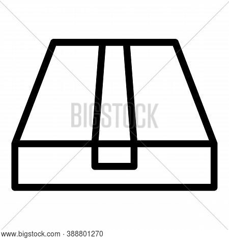 Wrap Box Icon. Outline Wrap Box Vector Icon For Web Design Isolated On White Background