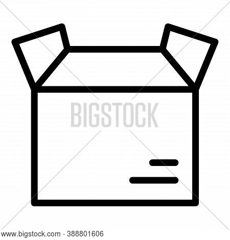 Open Parcel Box Icon. Outline Open Parcel Box Vector Icon For Web Design Isolated On White Backgroun