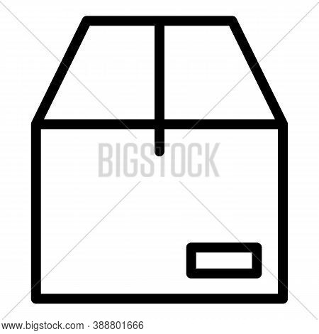Parcel Box Icon. Outline Parcel Box Vector Icon For Web Design Isolated On White Background