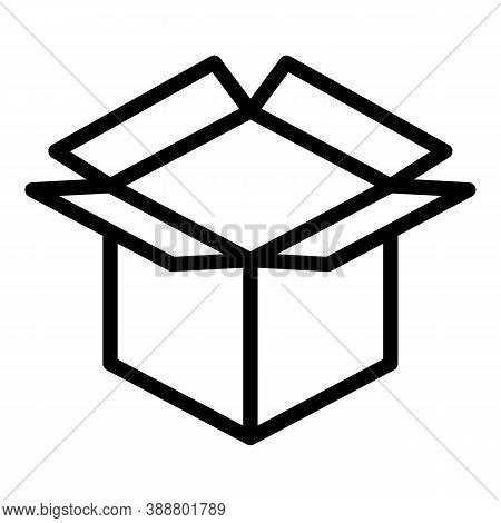 Post Parcel Icon. Outline Post Parcel Vector Icon For Web Design Isolated On White Background
