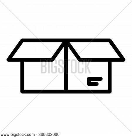 Pickup Postal Box Icon. Outline Pickup Postal Box Vector Icon For Web Design Isolated On White Backg