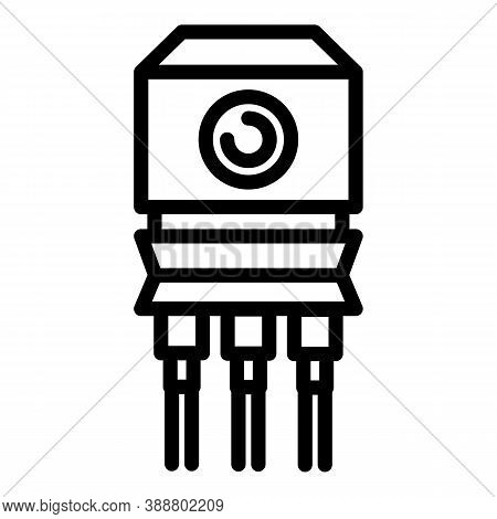 Battery Voltage Regulator Icon. Outline Battery Voltage Regulator Vector Icon For Web Design Isolate