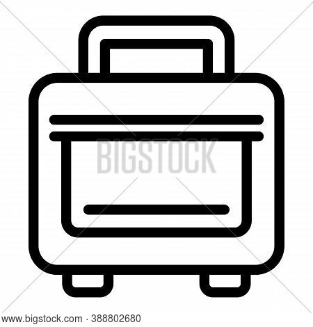 Case Laptop Bag Icon. Outline Case Laptop Bag Vector Icon For Web Design Isolated On White Backgroun