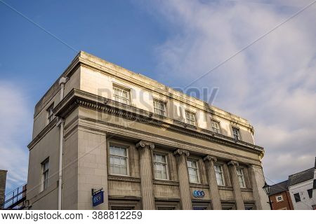 Doncaster,yorkshire, England - October 7, 2020. Tsb Building With Perspective From Down Up In Doncas