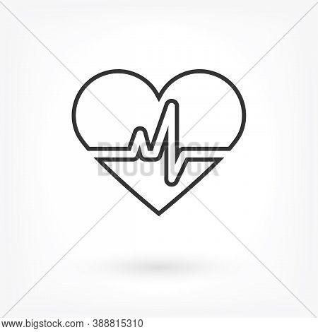 Heart Icon Vector . Lorem Ipsum Illustration Design