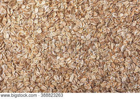 Oatmeal As A Background. Oatmeal Close Up.