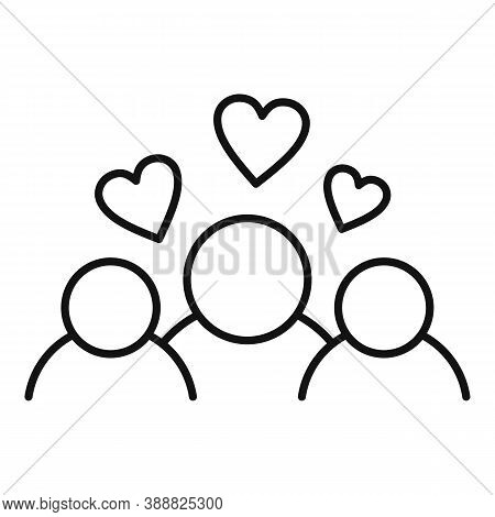 Family Affection Icon. Outline Family Affection Vector Icon For Web Design Isolated On White Backgro