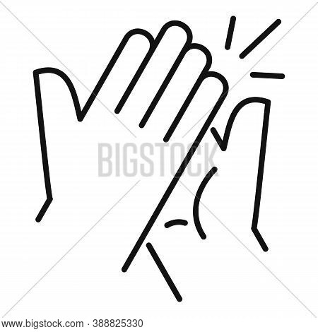 Handshake Affection Icon. Outline Handshake Affection Vector Icon For Web Design Isolated On White B