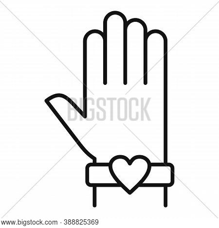 Love Bracelet Affection Icon. Outline Love Bracelet Affection Vector Icon For Web Design Isolated On