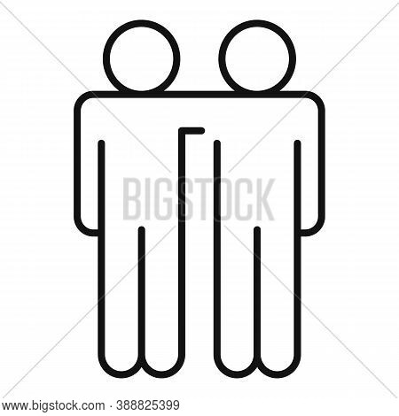 Friendship Affection Icon. Outline Friendship Affection Vector Icon For Web Design Isolated On White