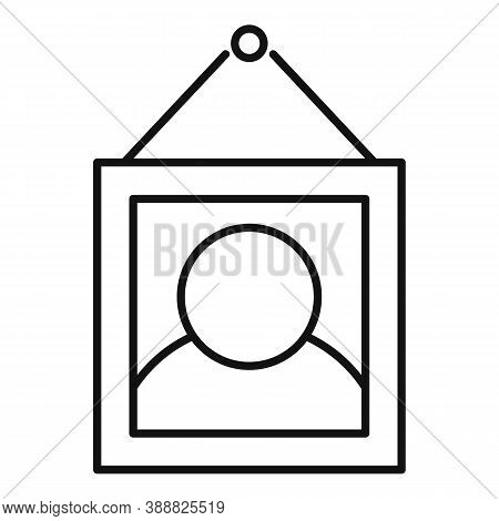 Affection Wall Picture Icon. Outline Affection Wall Picture Vector Icon For Web Design Isolated On W