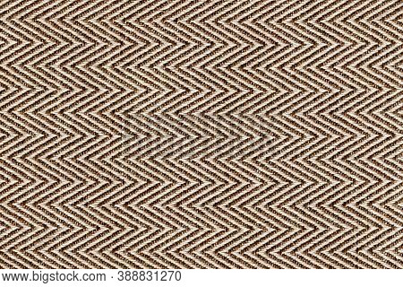 Gold,beige With Brown Colors Fabric Sample Herringbone,zigzag Pattern Texture Backdrop.fabric Strip