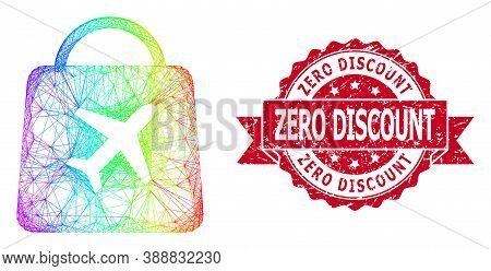 Bright Colored Wire Frame Airport Shopping, And Zero Discount Rubber Ribbon Seal Print. Red Seal Inc