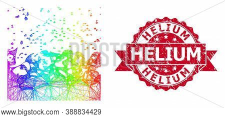 Spectrum Vibrant Network Boiling Liquid, And Helium Dirty Ribbon Seal Imitation. Red Seal Includes H