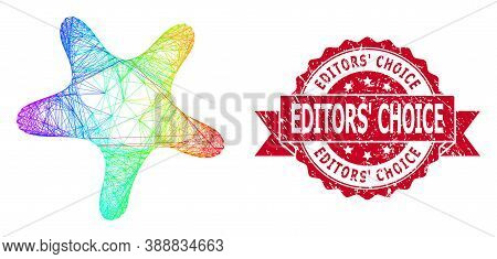 Bright Colorful Wire Frame Bent Star, And Editors Choice Dirty Ribbon Seal. Red Seal Includes Editor