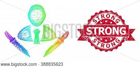 Rainbow Colorful Wire Frame Butchery Boss, And Strong Unclean Ribbon Seal Imitation. Red Stamp Seal