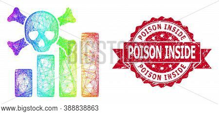 Spectrum Colored Wire Frame Death Chart, And Poison Inside Unclean Ribbon Watermark. Red Stamp Conta