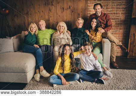 Photo Of Full Family Eight People Gathering Cuddle Embrace Satisfied Good Season Time Friendship Com