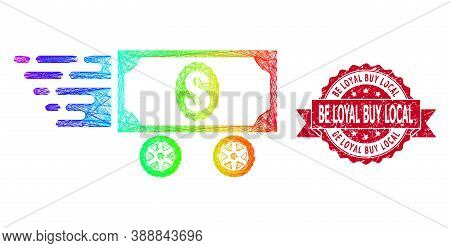 Bright Colored Wire Frame Dollar Car, And Be Loyal Buy Local Dirty Ribbon Seal Print. Red Stamp Seal