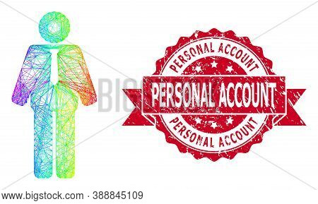 Bright Colored Wire Frame Groom, And Personal Account Dirty Ribbon Seal Imitation. Red Seal Includes