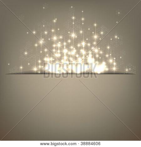 Glowing shiny christmas background. Vector eps10.