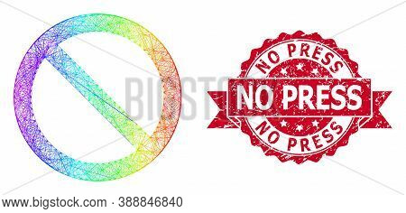 Rainbow Vibrant Wire Frame Forbidden, And No Press Dirty Ribbon Seal Imitation. Red Stamp Seal Inclu