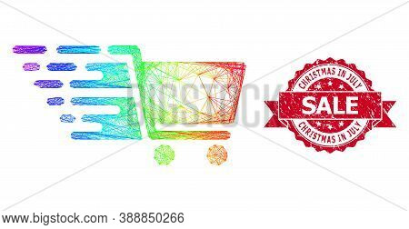 Spectrum Colorful Network Supermarket Cart, And Christmas In July Sale Dirty Ribbon Seal Imitation.
