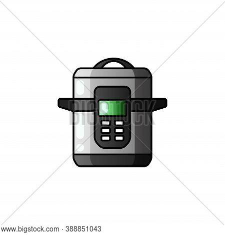 Multi Cooker Glyph Icon Slow Cooker Crock Pot