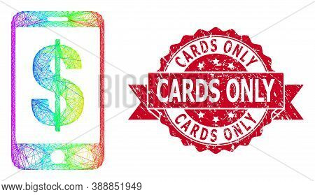 Bright Colored Wire Frame Mobile Dollar Bank, And Cards Only Corroded Ribbon Seal. Red Seal Includes