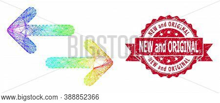 Spectrum Colorful Wire Frame Exchange Arrows, And New And Original Unclean Ribbon Seal. Red Seal Inc