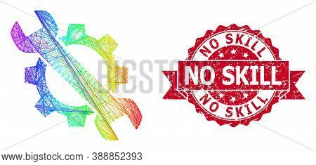 Rainbow Vibrant Wire Frame Repair, And No Skill Rubber Ribbon Seal Imitation. Red Seal Contains No S
