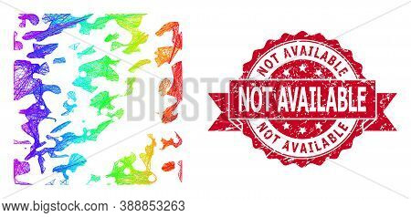 Spectrum Vibrant Wire Frame Destructed, And Not Available Dirty Ribbon Stamp Seal. Red Seal Has Not