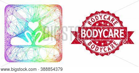 Rainbow Vibrant Net Love Swans, And Bodycare Textured Ribbon Seal Imitation. Red Seal Includes Bodyc