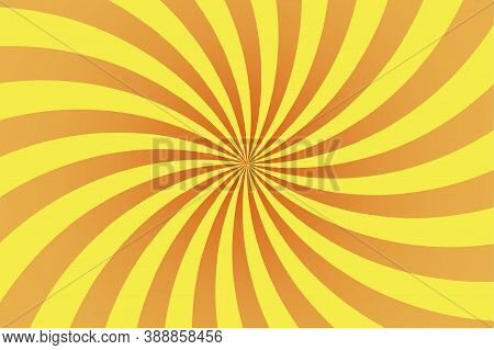 Red Yellow Orange Rays In Retro Style On Light Background. Abstract Background Design. Summer Backgr