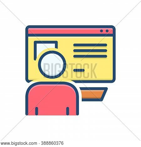 Color Illustration Icon For Netizen Mainstream Newspapers Magazines Liberally News