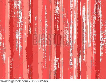 Watercolor Strips Seamless Vector Background. Uneven Ink Hatch Vertical Lines Textile Pattern. Strip