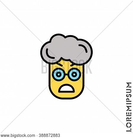 Fury Expression Yellow Boy, Man Icon With Style. Suitable For Website Design, Logo, App And Ui. Angr