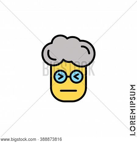 Angry Face Yellow Emoji Boy, Man Icon Vector. Sad Face Emoticon Symbol. Style Sign For Mobile Concep