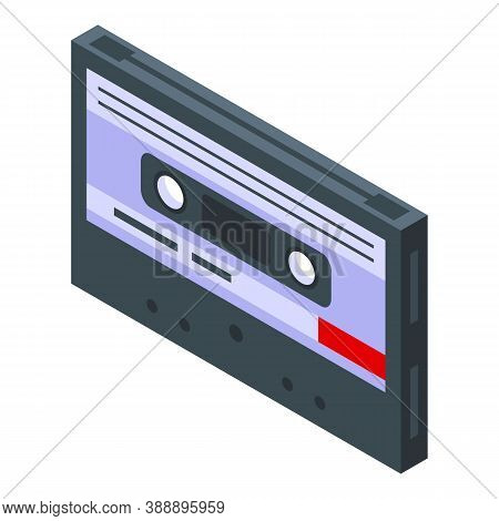 Cassette Playlist Icon. Isometric Of Cassette Playlist Vector Icon For Web Design Isolated On White
