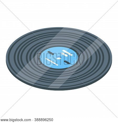 Vinyl Disc Playlist Icon. Isometric Of Vinyl Disc Playlist Vector Icon For Web Design Isolated On Wh