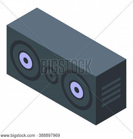 Streamer Sound Speaker Icon. Isometric Of Streamer Sound Speaker Vector Icon For Web Design Isolated