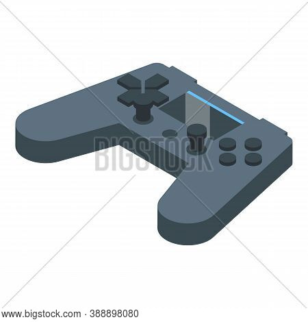 Streamer Video Game Joystick Icon. Isometric Of Streamer Video Game Joystick Vector Icon For Web Des